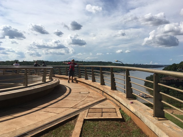 Three borders. Me stood in Argentina (Puerto Iguazú) with Paraguay directly behind me and Brazil to the right of me. November 2018.