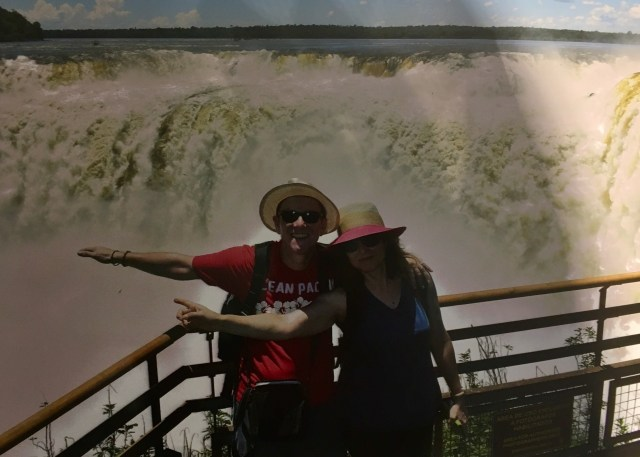 Wilbur & Wife, Iguazu Falls, Argentina