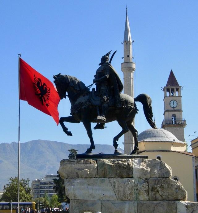 Skanderbeg's Statue, Tirana, Albania