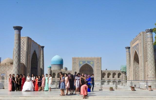Wedding Party, The Registan, Samarkand