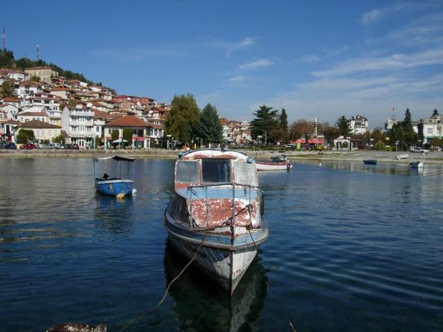 Boats on Lake Ohrid, Macedonia