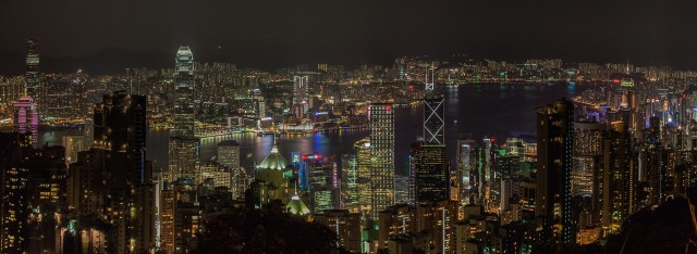 Nighttime View from Victoria Peak, Hong Kong