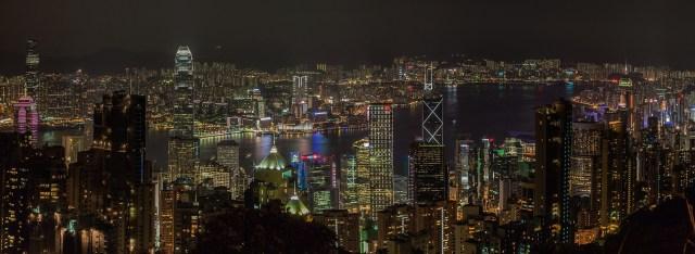 Nighttime View from Victoria Peak, Hong Kong