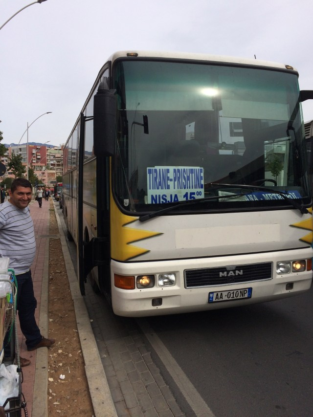Our Bus From Tirana to Prizren
