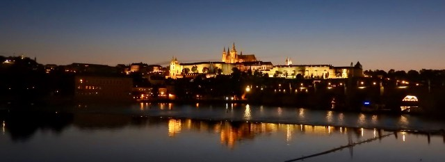 Prague Castle at Night, August 2019