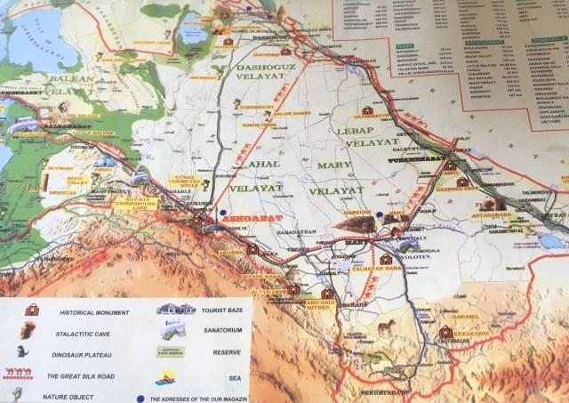 Turkmenistan Train Map