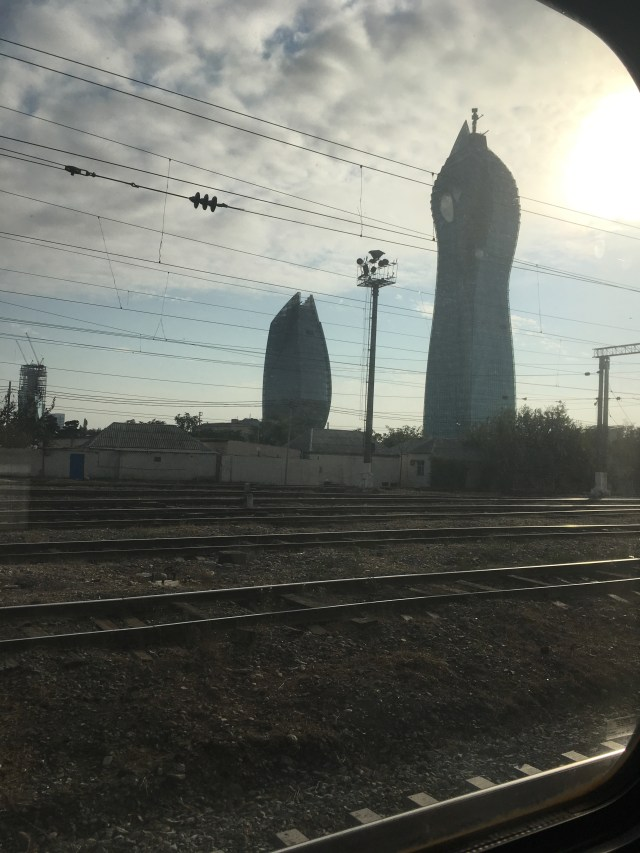 Approaching Baku by Train