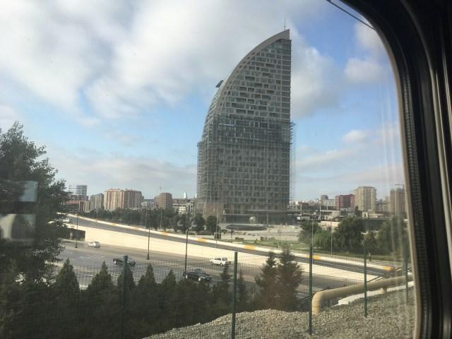 Approaching Baku by Train