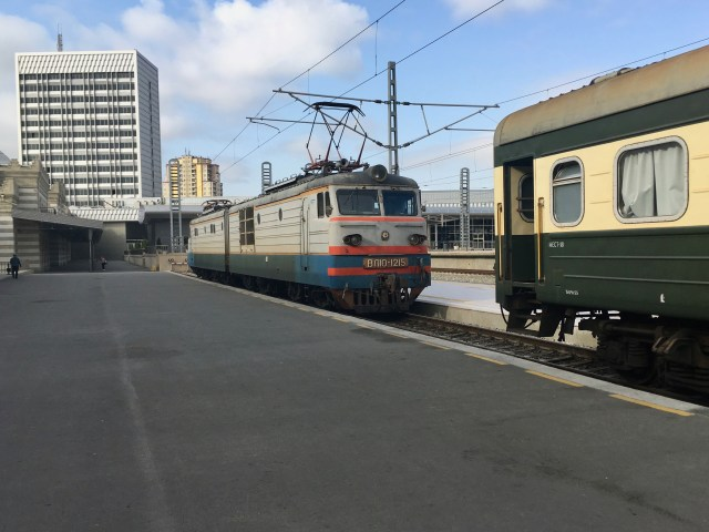 Tbilisi Train Arrived At Baku Station