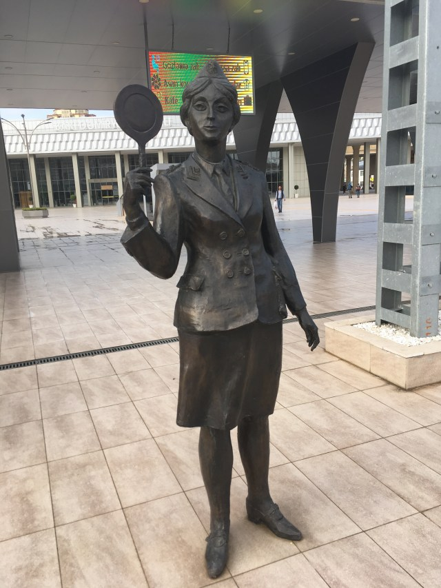 Statue Of A Train Guard (Resembling Margaret Thatcher!), Baku, Azerbaijan
