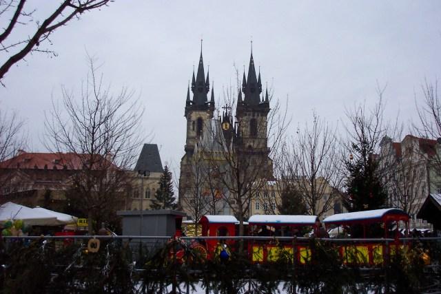 Tyn Church & Old Town Square, Prague, Christmas 2003
