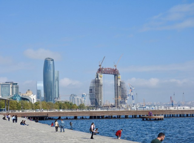 Baku's Caspian Sea Waterfront