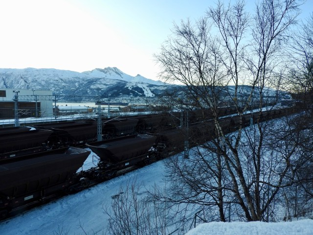Laden Iron Ore Trucks, Narvik, Norway