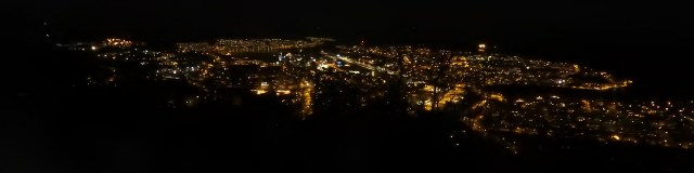 Nighttime Mountain View of Narvik, Norway
