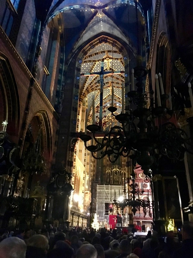 Midnight Mass in St Mary's Basilica, Krakow