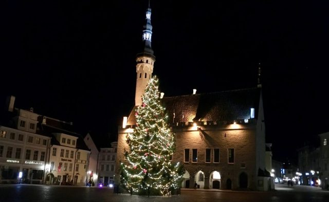 Town Hall Square Christmas Tree, Tallinn, Estonia