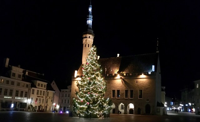 Town Hall Square Christmas Tree, Tallinn, Estonia