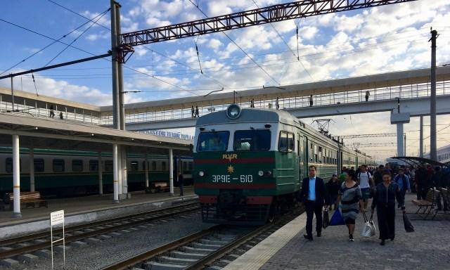 Tashkent Train Arrival, Uzbekistan