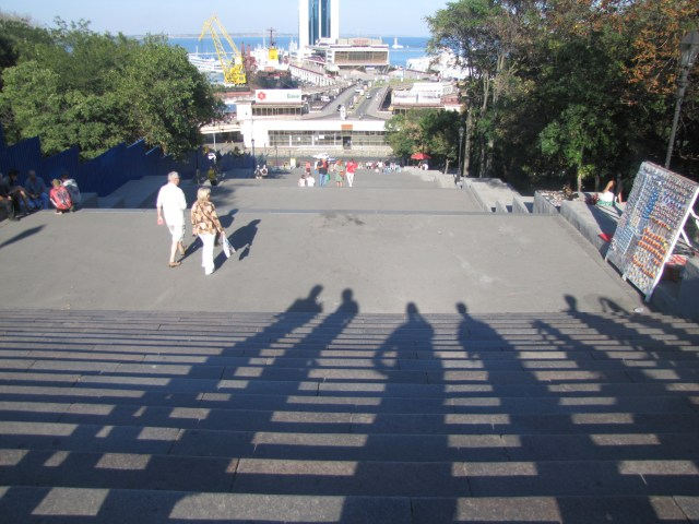 Odessa Port View From Potemkin Steps