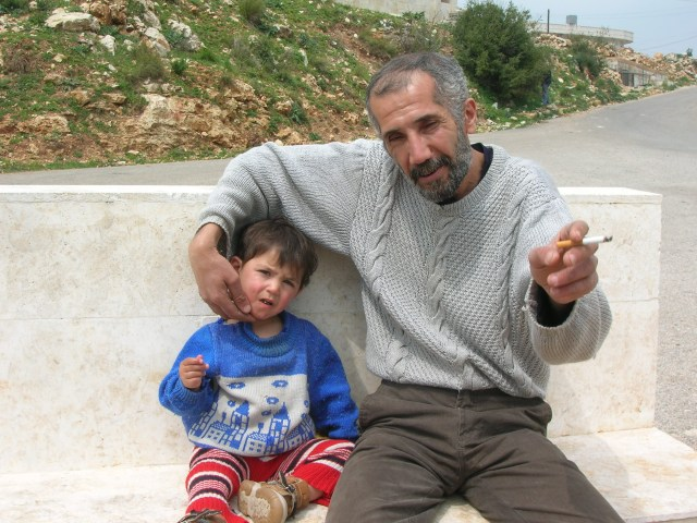 Syrian Father on the way to Palmyra