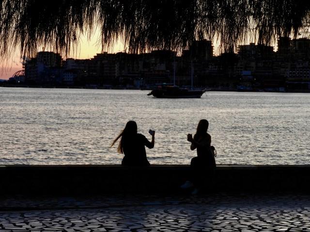 Selfie Silhouette, Sarande, Albania