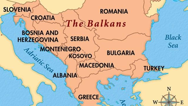 Modern Balkan Map