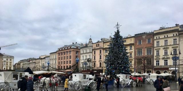 Market Square at Christmas, Krakow