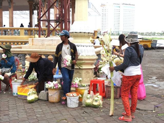 Buddhist Offerings For Sale Phnom Penh