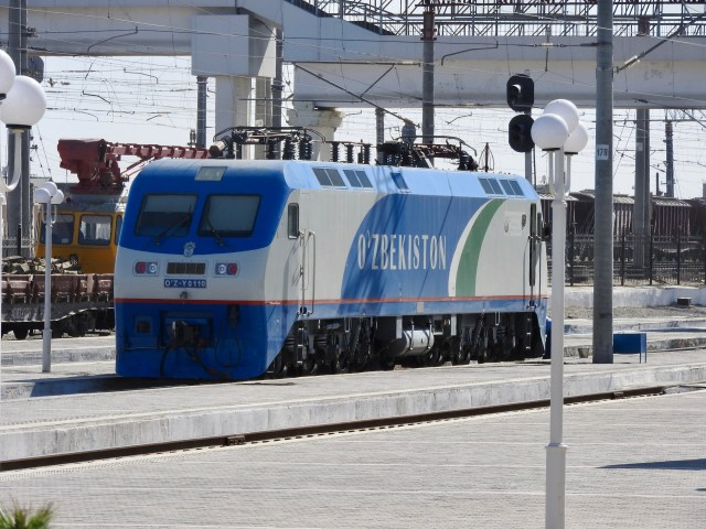 Uzbekistan Railways Engine in Bukhara
