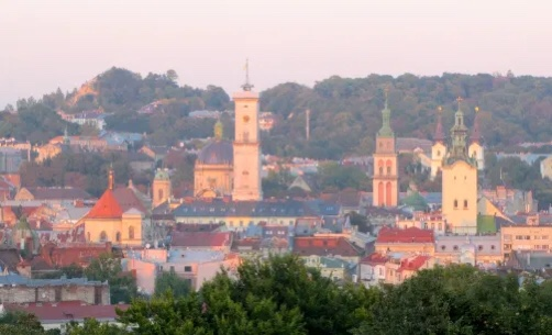 View of Lviv Old Town, Ukraine