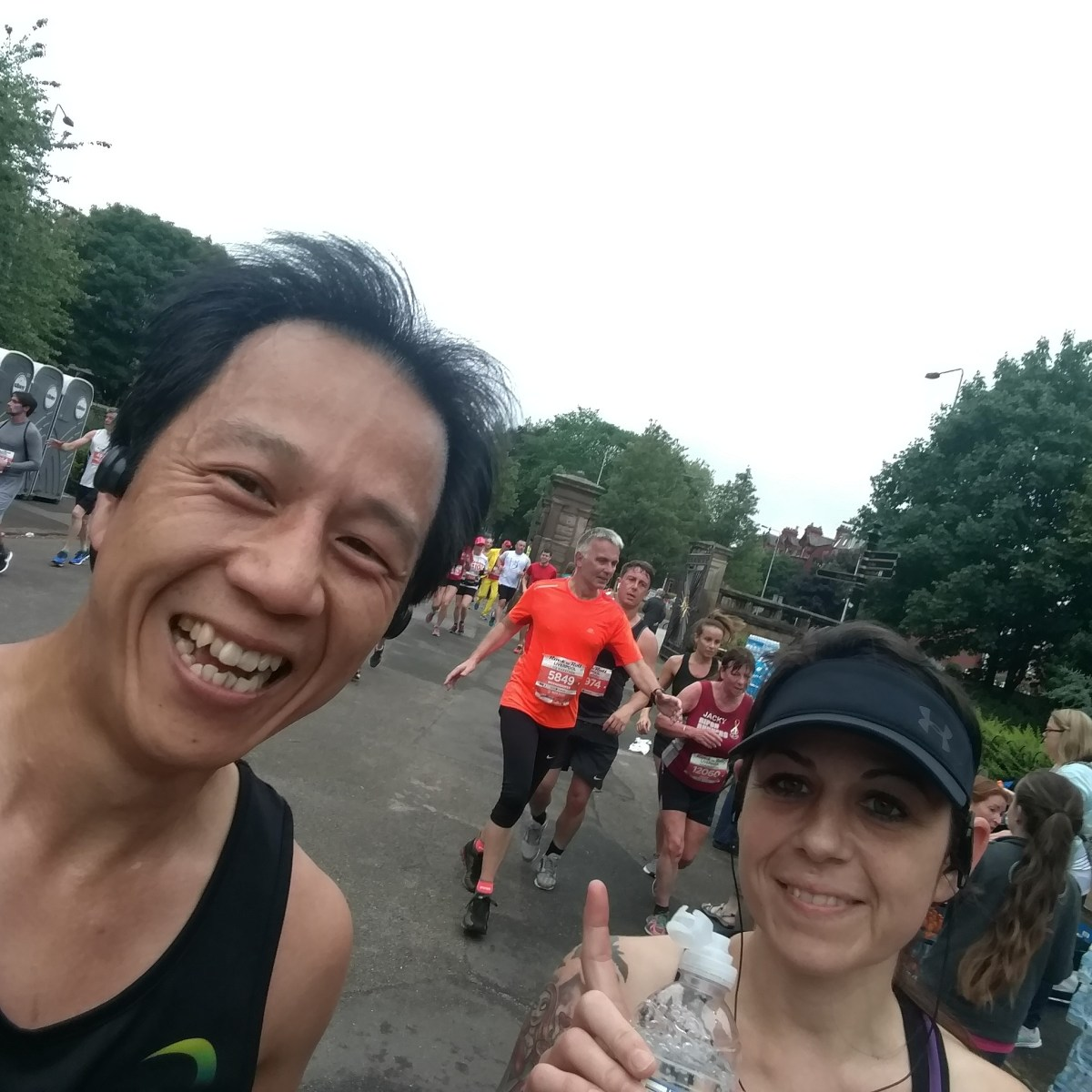 Running selfie with instarammer @running_for_Autism