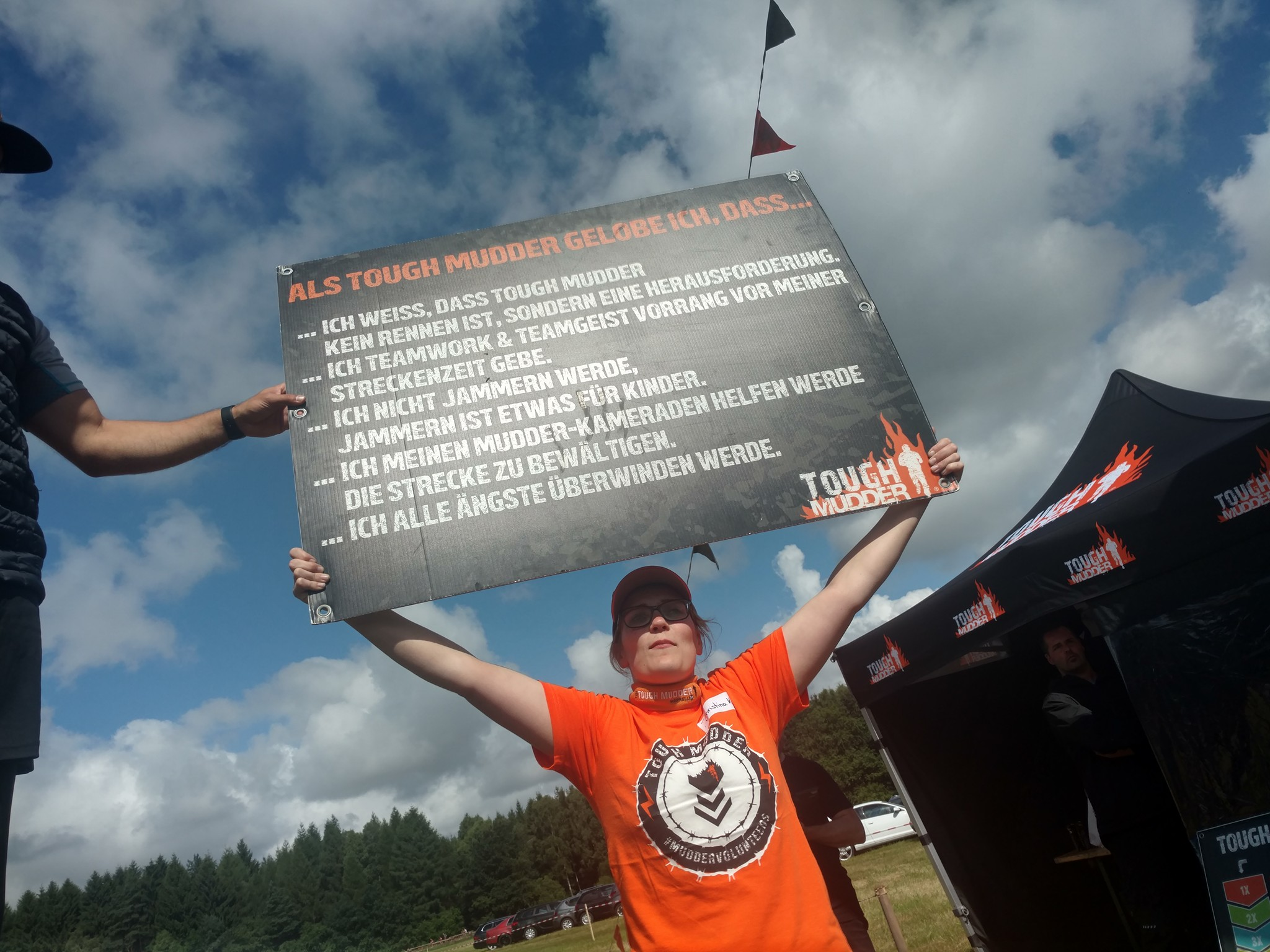 Tough Mudder pledge - in German