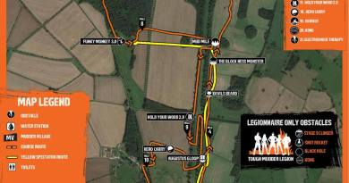Tough Mudder South West Map