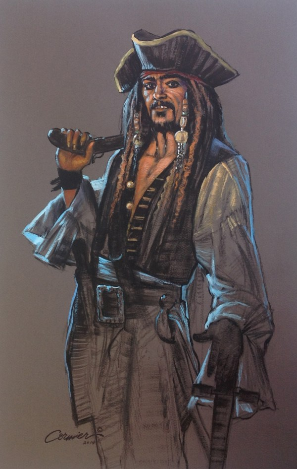 Pirate With Sword & Pistol - Wil Cormier Fine Art