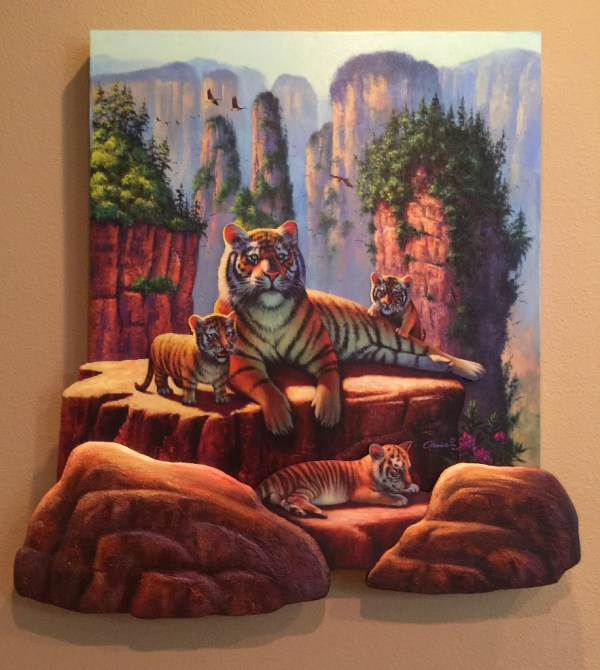 Zhang Tigers 3d Layered Art Wil Cormier Fine