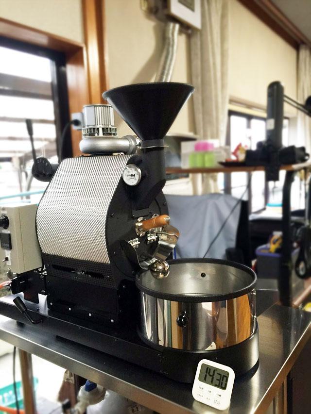静岡県島田市にナナハン焙煎機を設置しました。