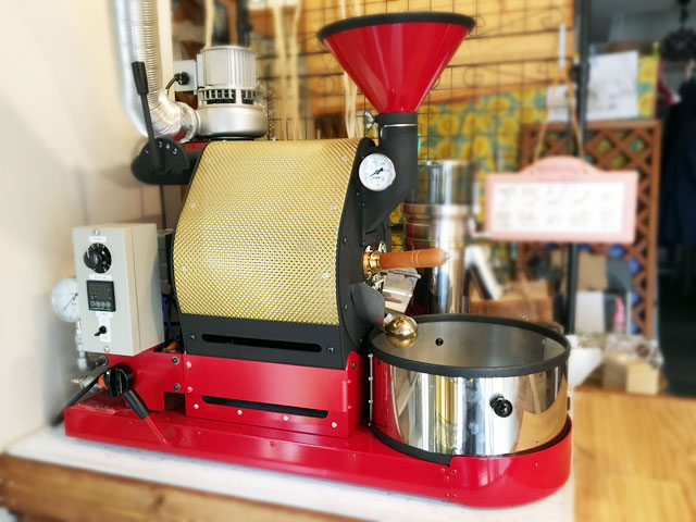 横浜市港南区にナナハン焙煎機を設置しました。
