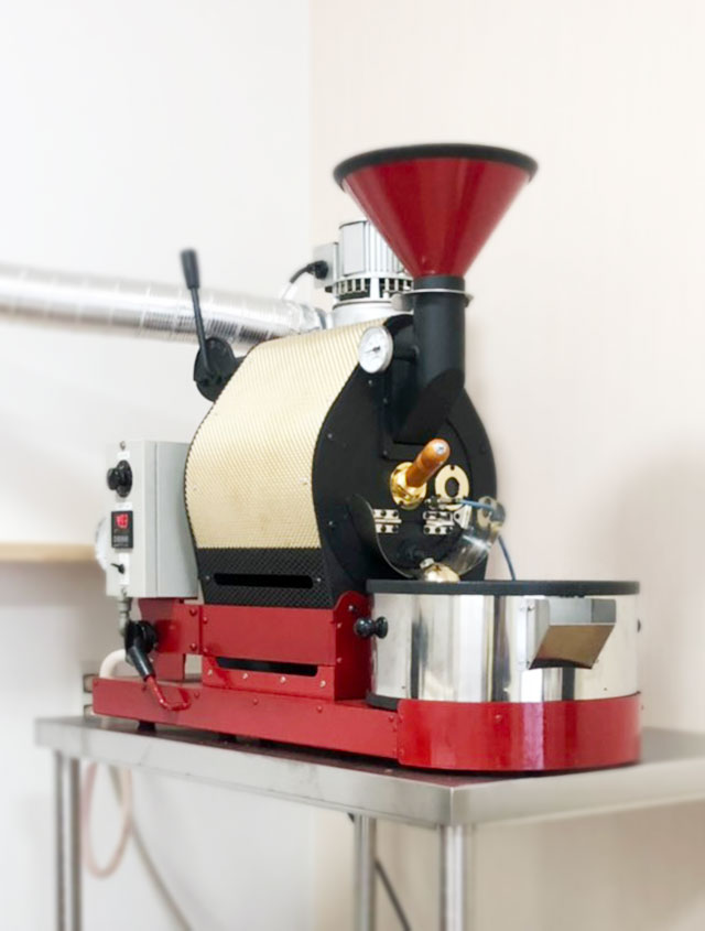 滋賀県草津市ナナハン焙煎機を設置しました。