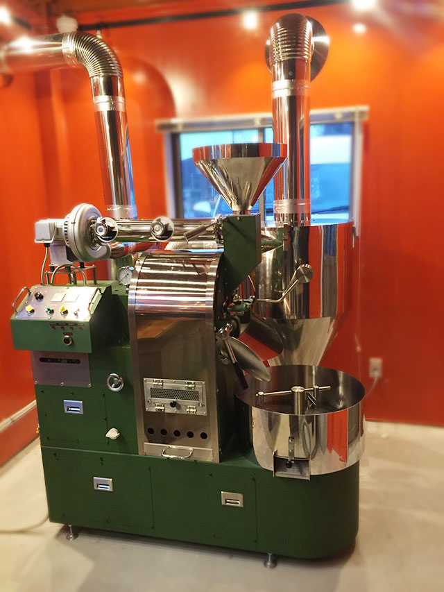 滋賀県長浜市にvasic4,5kg焙煎機を設置しました。