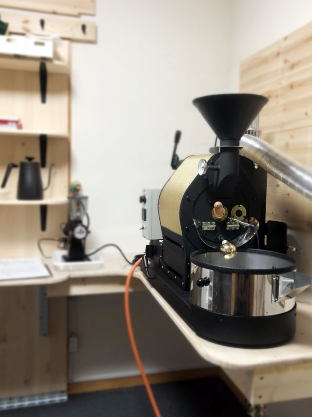 静岡県裾野市にナナハン焙煎機を設置しました。