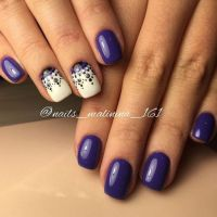 25 Magnificent Half-Moon Nail Designs - Wild About Beauty