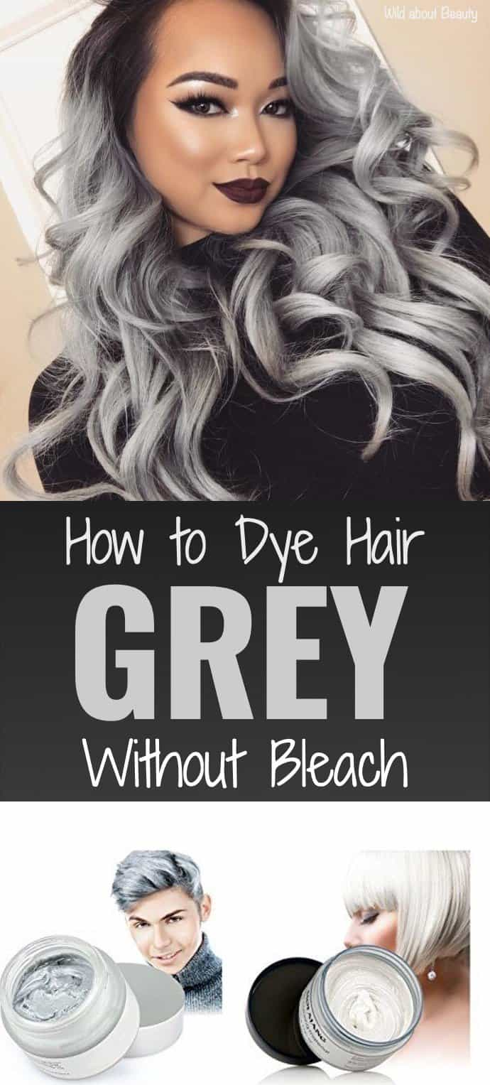 Dying Dark Brown Hair Grey Without BleachHair Color ...