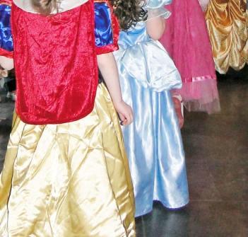 Princess at birthday party