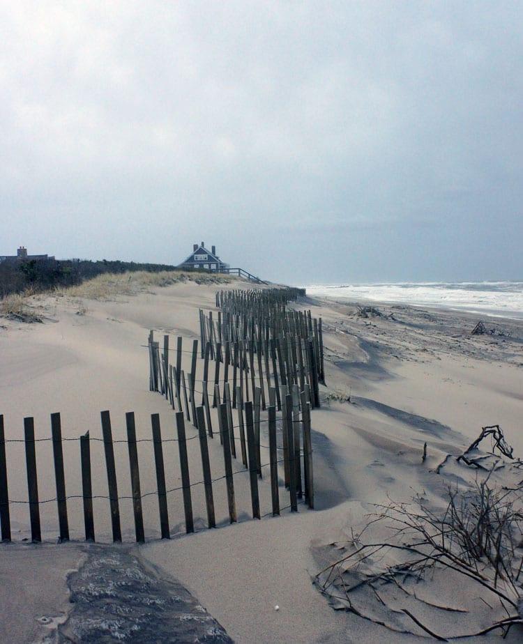 beach scene fence