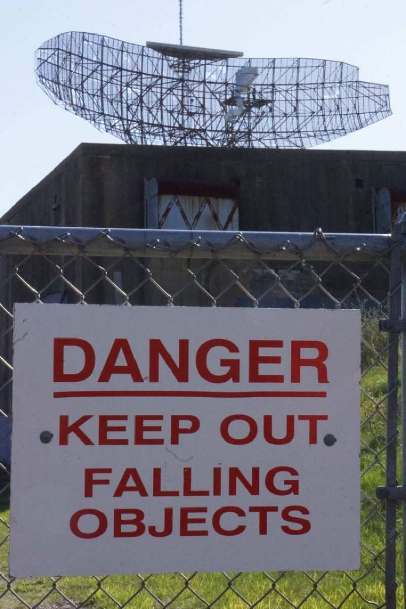 danger sign camp hero radar