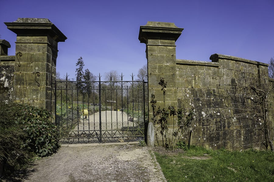 Gravetye Manor Kitchen garden gate