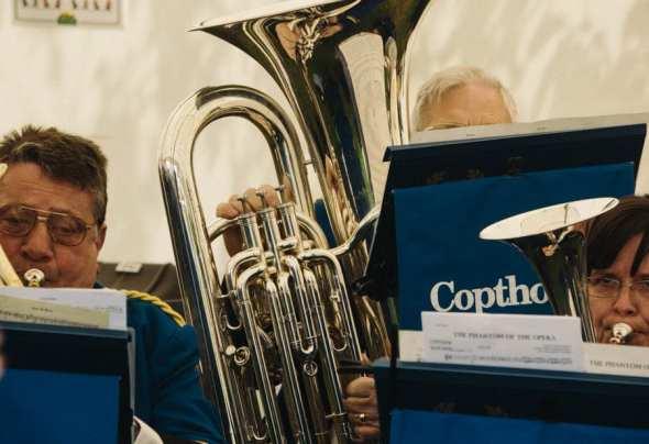 Band at English village fair