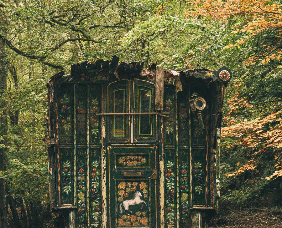 Groombridge Place Romany caravan