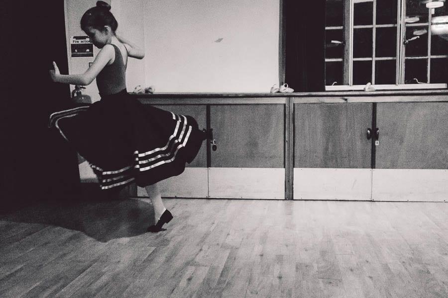 Little Dancer BW swirling