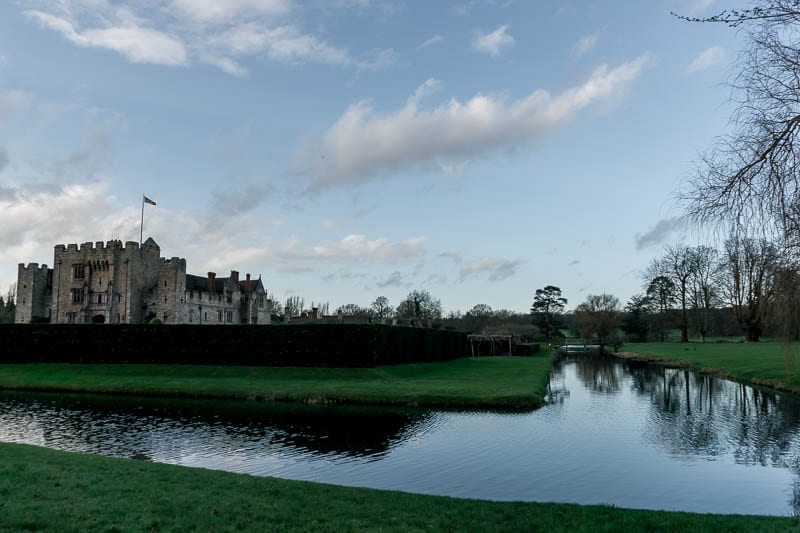 Hever Castle moat and reflections